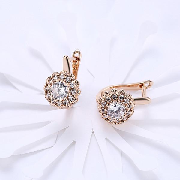 Роскошные женские модные серьги Золото / серебро Большой бриллиант Красивые серь