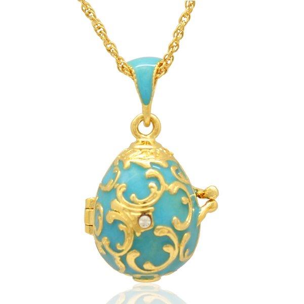 Fleur De Lis цветок Фаберже яйцо кулон пасхальное яйцо медальон для русского стиля оже фото