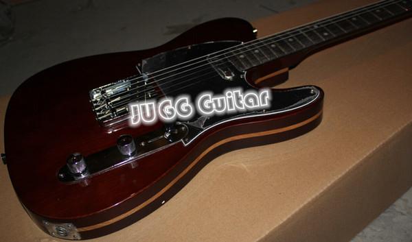 Ограниченный доступ к магазину с ограниченным бюджетом Джордж Харрисон Telecaster Rosewood Maple Rosewood Sandwich Body Brown Электрическая гитара 3-Ply Black Pickguard