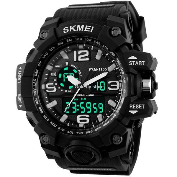 Orologi sportivi uomo cronografo militari dell'esercito polso SKMEI analogica LED Digital Clock relogio masculino