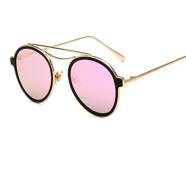 Круглый Черепаха солнцезащитные очки ретро очки женщины мода солнцезащитные очки двойной нос мост металл ацетат кадр очки Goggle UV400 Y76 фото