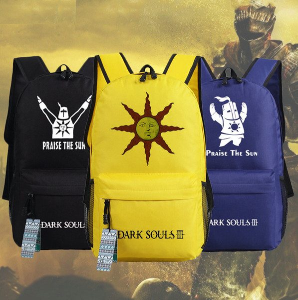 Dark souls backpack Praise the sun school bag Knight game daypack Quality schoolbag Outdoor rucksack Sport day pack