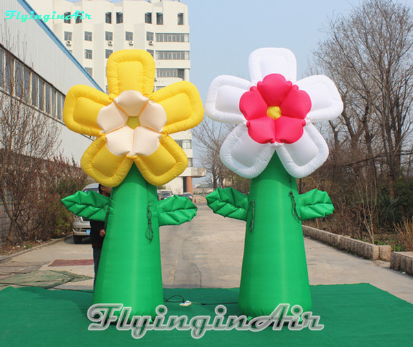 3m giant flower multicolor inflatable flower for outdoor event decoration
