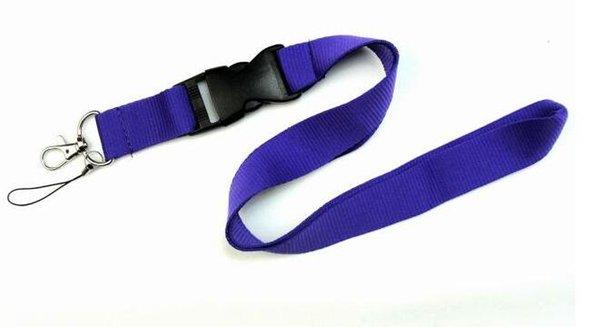 Бесплатная доставка горячая 10 шт. / лот фиолетовый сплошной цвет талреп для MP3 / 4 сотовый телефон брелок талрепы Оптовая