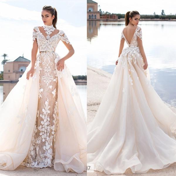 Llorenzorossib Ridal Свадебные платья Wish Sash Сексуальная Спинка на заказ Свадебные платья Аппликация Съемное свадебное платье Русалка