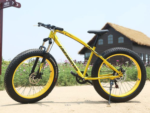 26 inches 7 speed 21 speed of snow damping Beach Bike Disc brakes 4.0 super wide tires mountain bike
