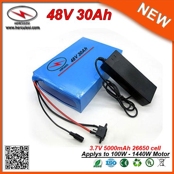 powerful greenworks 1440w electric bike battery 48v 30ah lithium battery with 30a bms 2a charger ing (406573047) photo