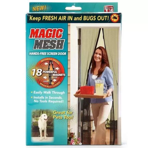 Magnetic Screen Door Mesh Mosquito Curtain-Keeps Bugs & Mosquitoes Out Instant Screen Door Lets Cool Breeze in
