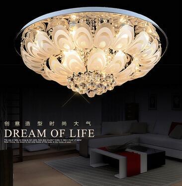Modern round cry tal chandelier d100cm flu h mount ceiling lamp e14 led tainle teel lu tre hanging light fixture indoor lighting