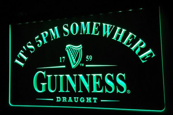 LS457-г Это 5 вечера Где Guinness неоновый свет Вход фото