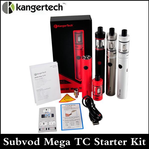 Kanger Subvod Mega TC Starter Kit клон 2300mAh Температура батареи управления с 4мл Top заполнени бака мега toptank мини через DHL