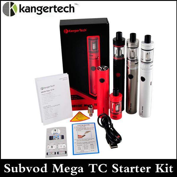 Kanger Subvod Mega TC Starter Kit Klon 2300mAh Temperature Control-Batterie mit 4 ml Top Nachfülltank mega mini Obertank über DHL