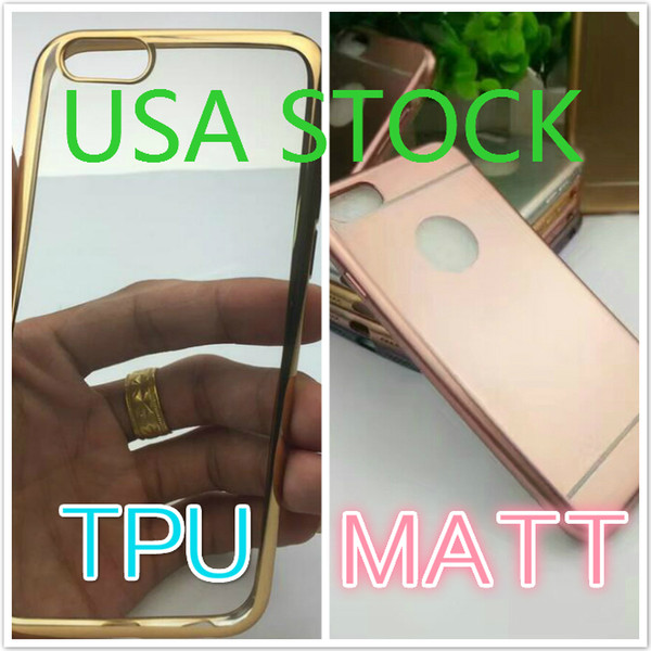 Stock in USA TPU Case For iPhone 7 Plus Plating Cases Gilded Ultra Thin Silicone Electroplate Samsung Galaxy Note 7 50Pcs
