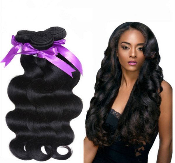 Pas cher 7A Brazillian Virgin cheveux de vague de corps 4pcs Virgin Brazilian Hair Weave Bundles 100% Remy Extension de cheveux de vague de corps de cheveux
