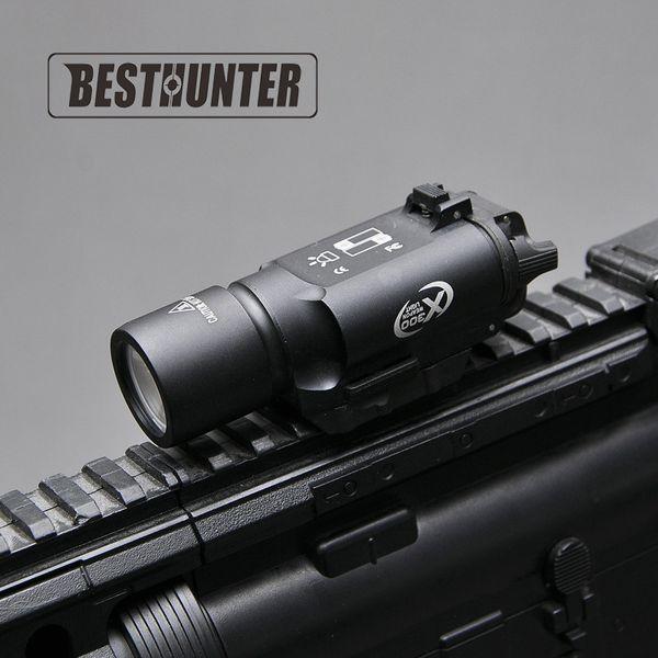 Tactical urefire x300 ultra pi tol gun light x300u 500 lumen high output rifle fla hlight fit 20mm picatinny weaver rail