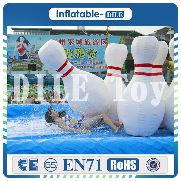 6 piece a lot inflatable human bowling pin game giant inflatable bowling bottle outdoor bowling pin game