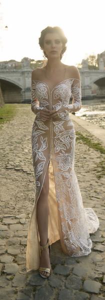 Julie Vino Свадебная весна 2019 Roma Collection Русалка Jewel Тюль Аппликация вечернее платье раз