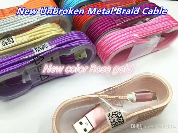 Fa t charger unbroken meta 1 5m 5ft long  trong braided u b charging cable for  mart phone   am ung  7  8 micro u b wire with metal head