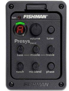 Fishman Presys blend 301 Dual Mode Гитарный предусилитель EQ Тюнер Пьезоуправляющая система эквалайзера с пиками Mic Beat Board