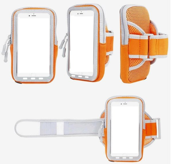Simple cellphone waterproof outdoor  port  arm ca e armband running bag