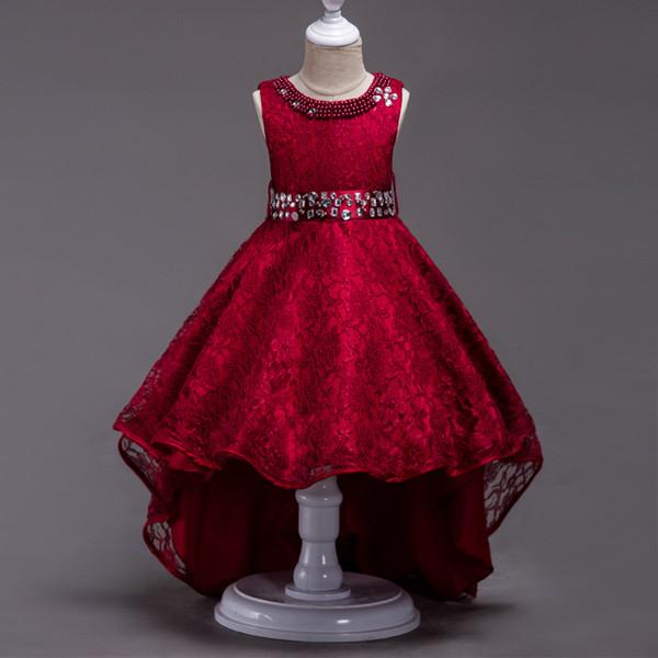 Кружева длинные хвосты платье новорожденных девочек одежда старинные стразы пла