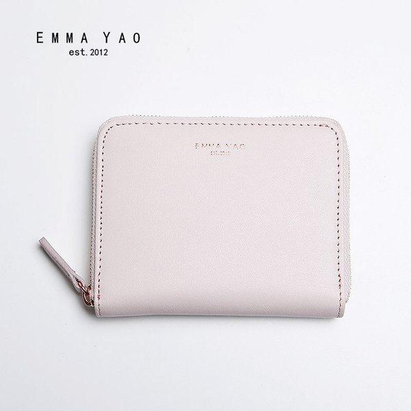 wholesale- emma yao leather wallet female fashion coin purses holders brand women designer (403370945) photo