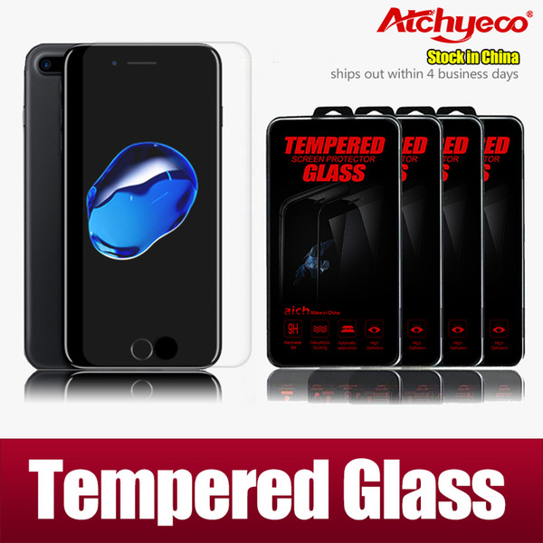 Iphone 7 Plus 5S SE Samsung Galaxy S6 S5 Note 5 Top Quality Tempered Glass Screen Protector for iphone 7 0.26MM 2.5D with retail box