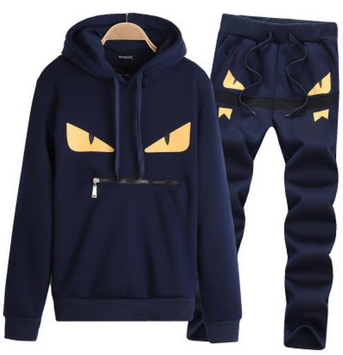 FENDI мужской спортивный костюм мужской модный комплект одежды с капюшоном спортивные костюмы печать MONSTER мужской спортивный костюм с капюшоном спортивный костюм спортивная одежда