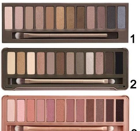 Eye hadow palette the 1 t 2nd 3rd generation makeup 12 color co metic himmer matte eye hadow with bru h
