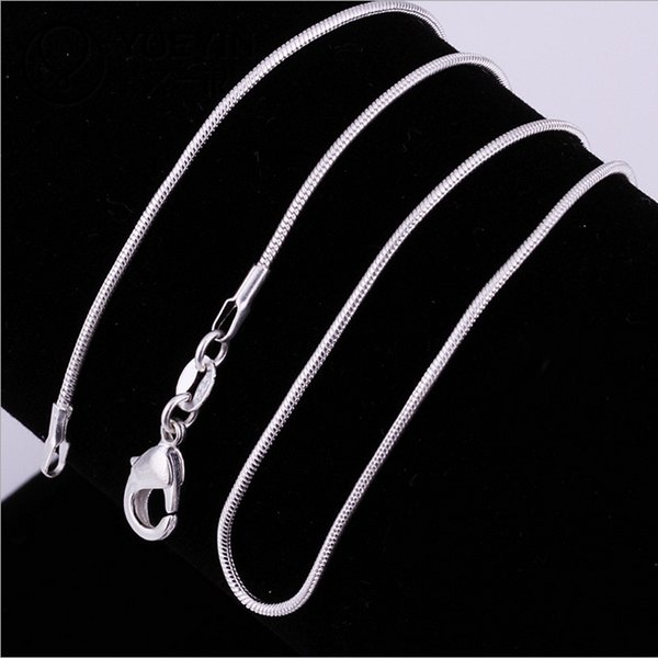 Big Promotions !High quality 1MM 18inches 925 sterling silver snake chain necklace fashion jewelry free shipping