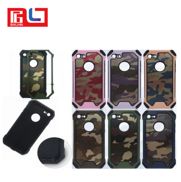 Army camouflage pattern 2 in1 armor hard phone ca e for iphone 6 6  6plu  7 7plu   am ung  5  6  6edge  7  7edge