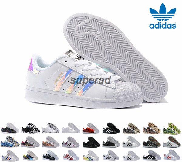 28 Farben Adidas Originals Superstar Weiß Hologram Iridescent Junior Superstars Turnschuhe Super Star Frauen Männer Sport Laufschuhe 36-45