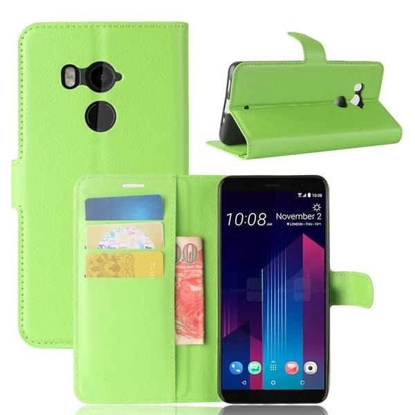 Litchi leather wallet ca e for htc u11 plu  moto e4 plu  oppo r11  zte blade force n9517 tempo x n9137 blackberry motion  tand cover 200pc