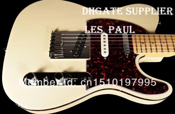 Горячая продажа США TELE AMERICAN DELUXE TELECASTER TRANS WHITE Электрическая гитара Abalone Dot Fingerboard Inlay Wine Turtle Pickguard Drop Shipping