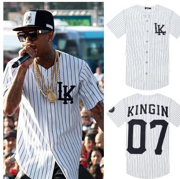 2018 прибыл хип-хоп Tyga последние короли Майка бейсбол униформа мужчины ЛК КТЖ трико