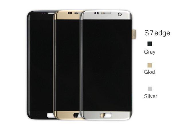 100% ursprüngliches neues für Samsung Galaxy S7 Rand G935 G935F G935A G935FD G935P LCD-Display Touch-Screen-Analog-Digital freies Verschiffen