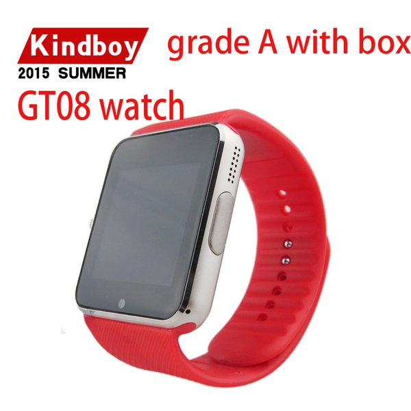 2016 smart gt08 telefono orologio per IOS Android wristwear supportano sincronizzazione orologio intelligente smartwatches DHL U8 DZ09 e così via