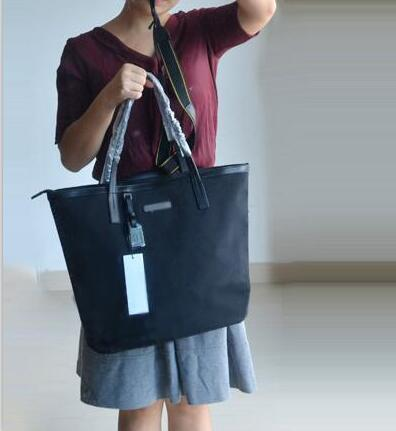Free shipping hot sale classic style womem Nylon shoulder bag simple dumplings bag black color