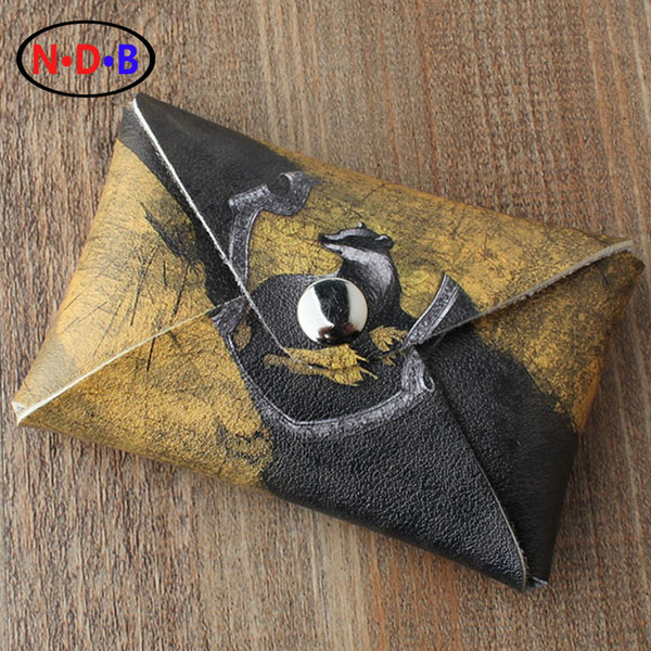 "wholesale- (coin purses) ""coin purse ""potter harry"" hufflepuff pattern wallet men and women coin bag lqb1082 (403405108) photo"
