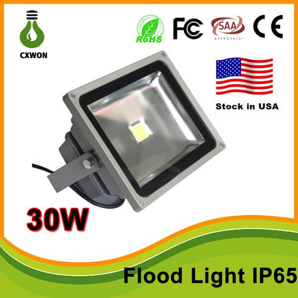 Stock in US High Quality 30W LED Wash landscape Flood Light Lamp Outdoor Waterproof IP65 Gray Case 85-265V Flood Light CE,TUV