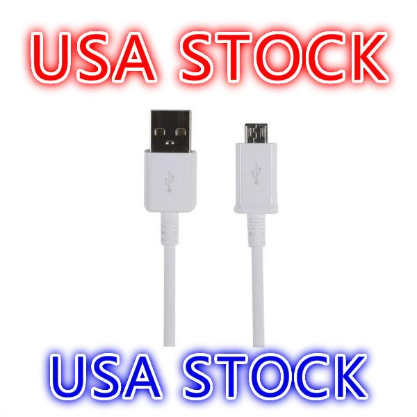 USA Stock Micro USB Cable For Samsung Galaxy S4 S5 S6 S7 Nokia HTC Motorola Android 2.0 Charger Sync Cables 1M 3FT
