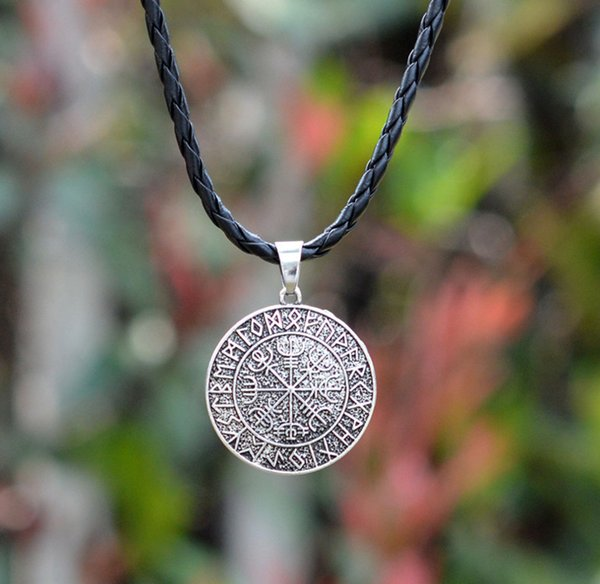 Мода фильм ювелирные изделия скандинавский викинг Руна Амулет кулон ожерелье Vegvi
