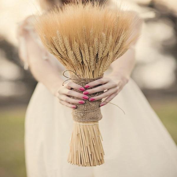 100-420 шт. Естественные сушеные цветы Лаванда Декоративная пшеничная букет Искусст