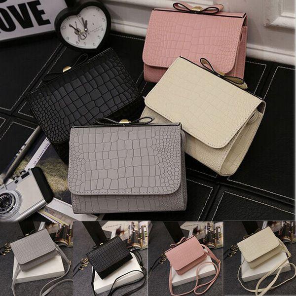 wholesale- new women leather shoulder bag clutch alligator handbag fashion tote purse hobo messenger (399276431) photo