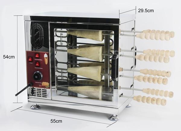 8 roller ice cream oven for 4pc kuto kalac 4pc ice cream cone chimney oven 110v 220v