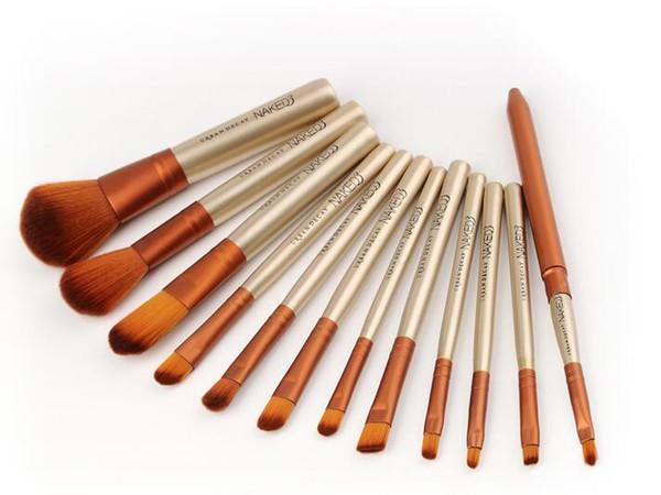 Naked 3 profe ional makeup bru h 12 pc et original makeup bru he kit for eye hadow bru he blu h bru h