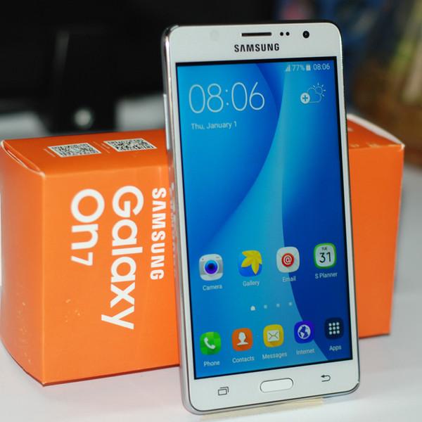 Восстановленное Samsung Galaxy On7 G6000 Смартфон 5.5 дюймов 16 ГБ / 8 Г ПЗУ 13.0MP четырехъядерный процессор 4 Г LTE