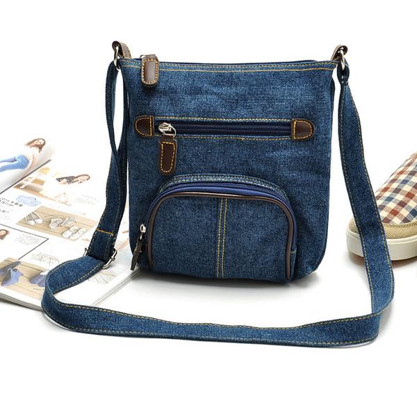 wholesale- ybyt 2016 new denim bucket casual handbags ale women shopping coin purse satchel lady shoulder messenger crossbody b (399281235) photo