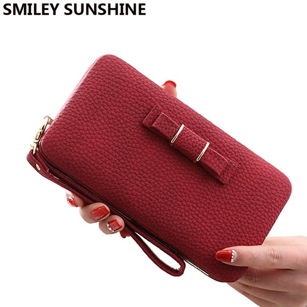 wholesale- vintage long brand women wallets clutch bag ladies coin purses female wallets wristlet big womens wallets and purses mini bag (401161307) photo