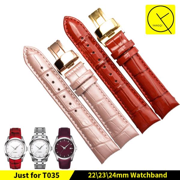 Натуральной телячьей кожи ремешок для часов часы ремешок ремешок для Tissot T-класси фото